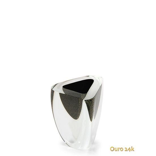 vaso-triangular-n-4-preto-com-ouro