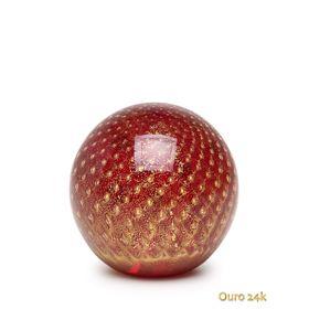 peso-tela-bola-vermelho-com-ouro