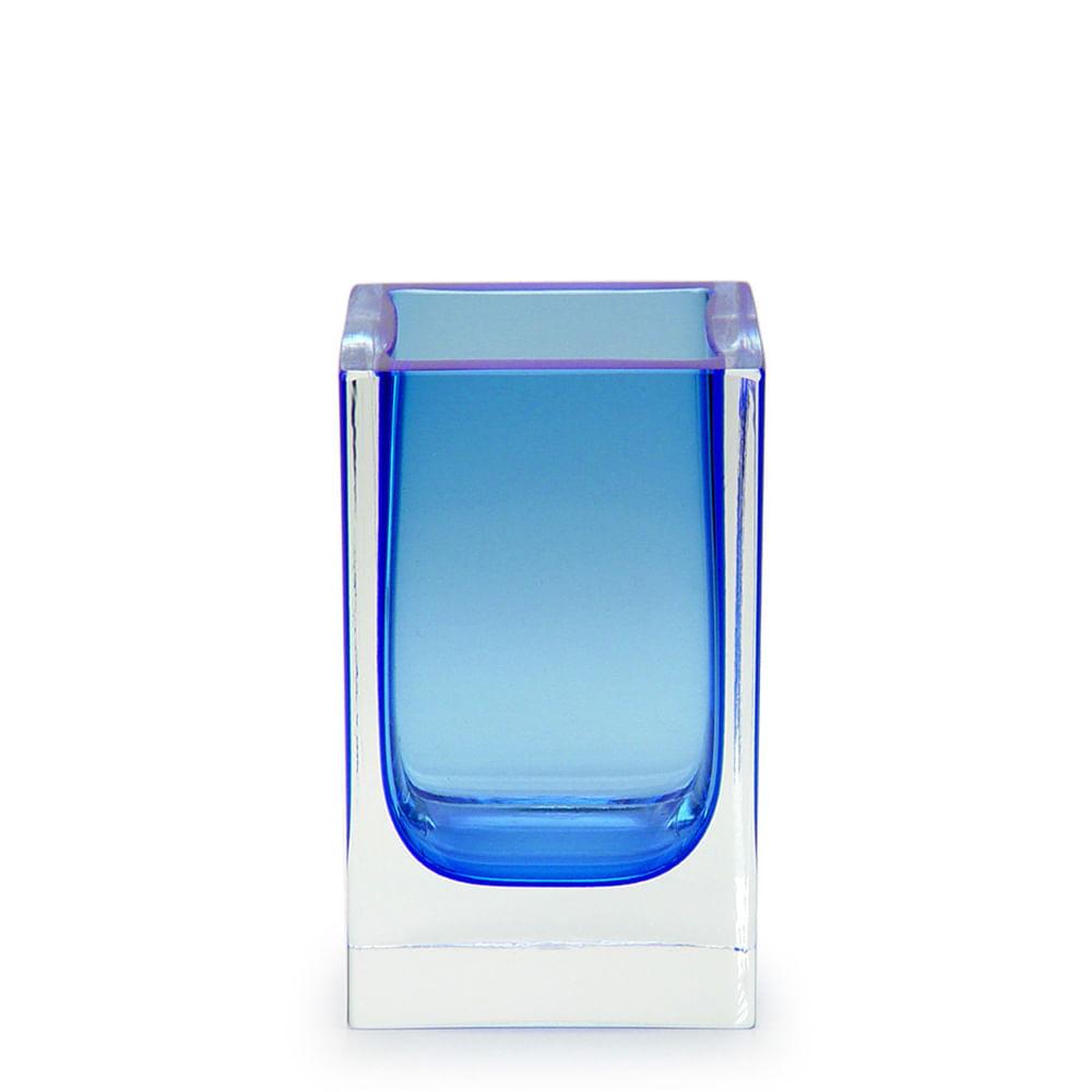Porta Lápis Azul Murano Cristais Cadoro