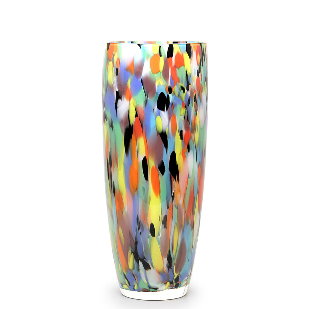 Vaso AD3 Multicor Colorido Murano Cristais Cadoro