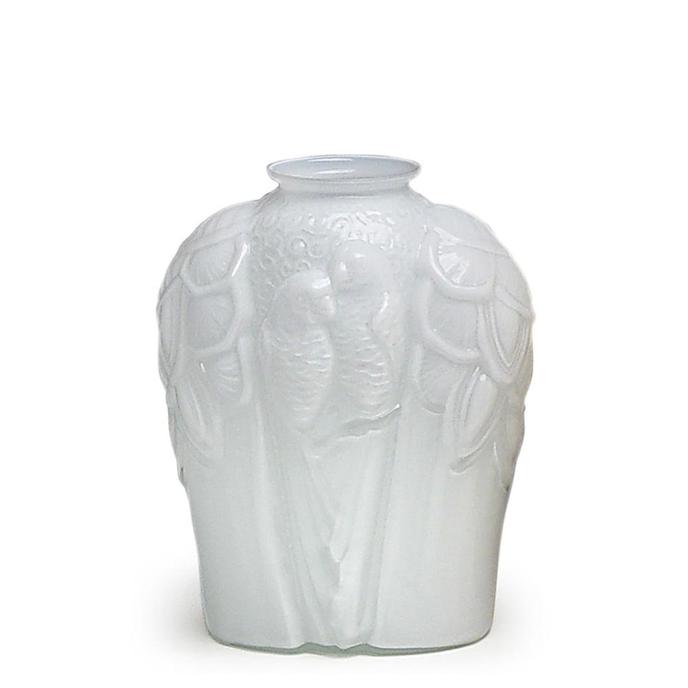 Vaso Fauna Branco Leitoso Murano Cristais Cadoro