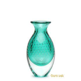 vaso-gota-3-tela-verde-com-ouro