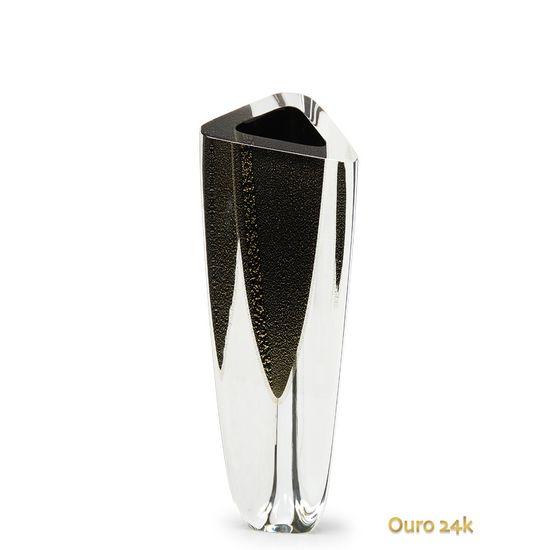 vaso-triangular-n-2-preto-com-ouro