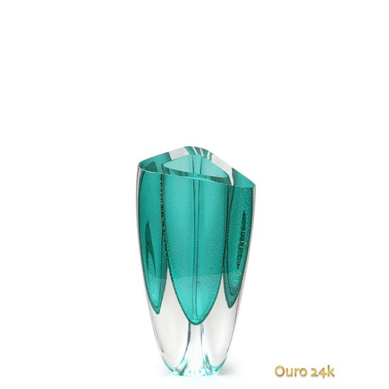 vaso-triangular-n-3-verde-com-ouro