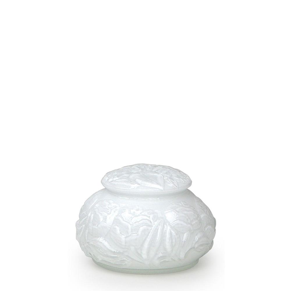 Caixa Flor Branca Leitosa Murano Cristais Cadoro