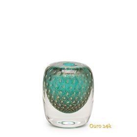 vaso-quadrado-3-tela-verde-com-ouro
