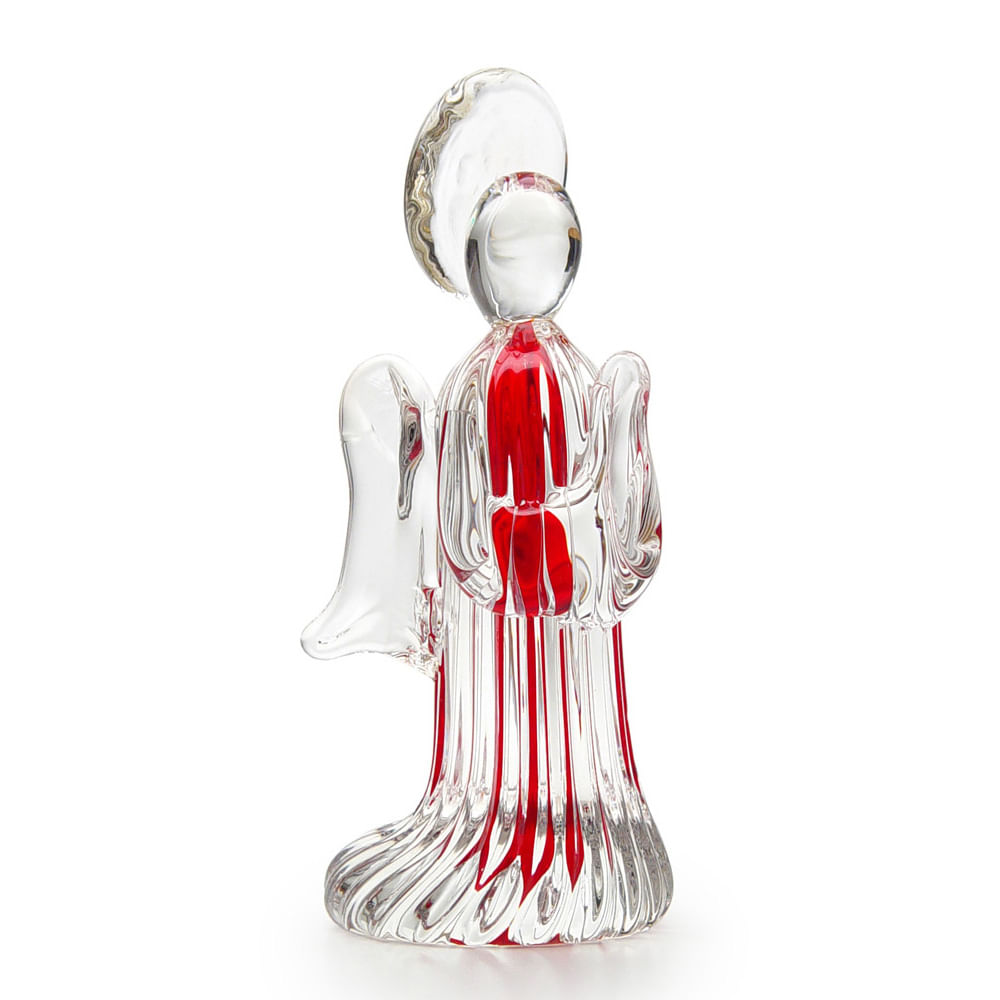 Anjinho Frisado Vermelho Murano Cristais Cadoro