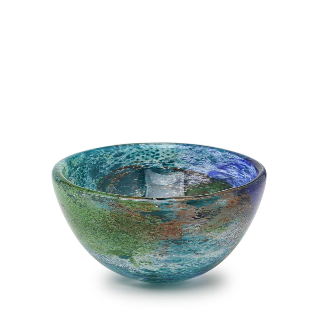 Bowl Planeta Terra Murano Cristais Cadoro
