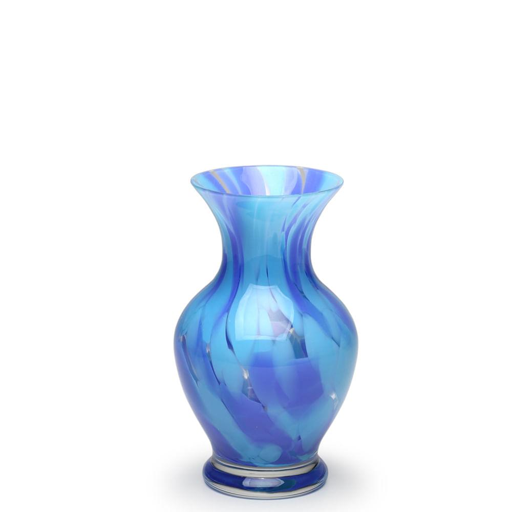 Vasinho 78 Multicor Azul e Água-marinha Murano Cristais Cadoro