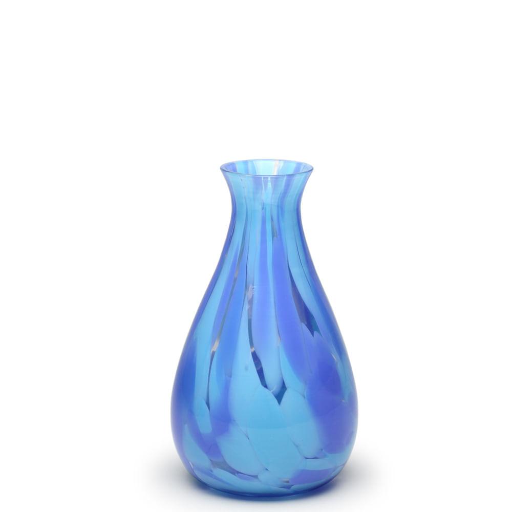 Vaso 66 Multicor Azul e Água-marinha Murano Cristais Cadoro