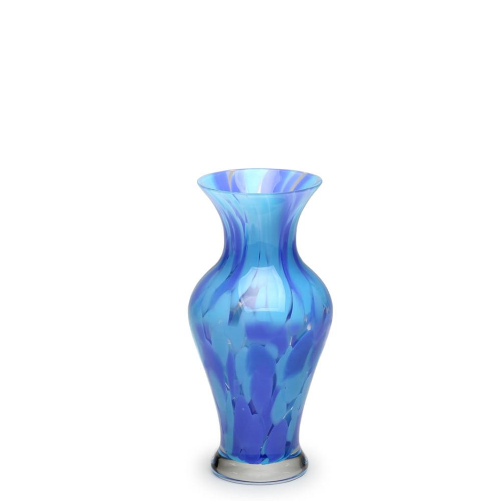 Vasinho 76 Multicor Azul e Água-marinha Murano Cristais Cadoro