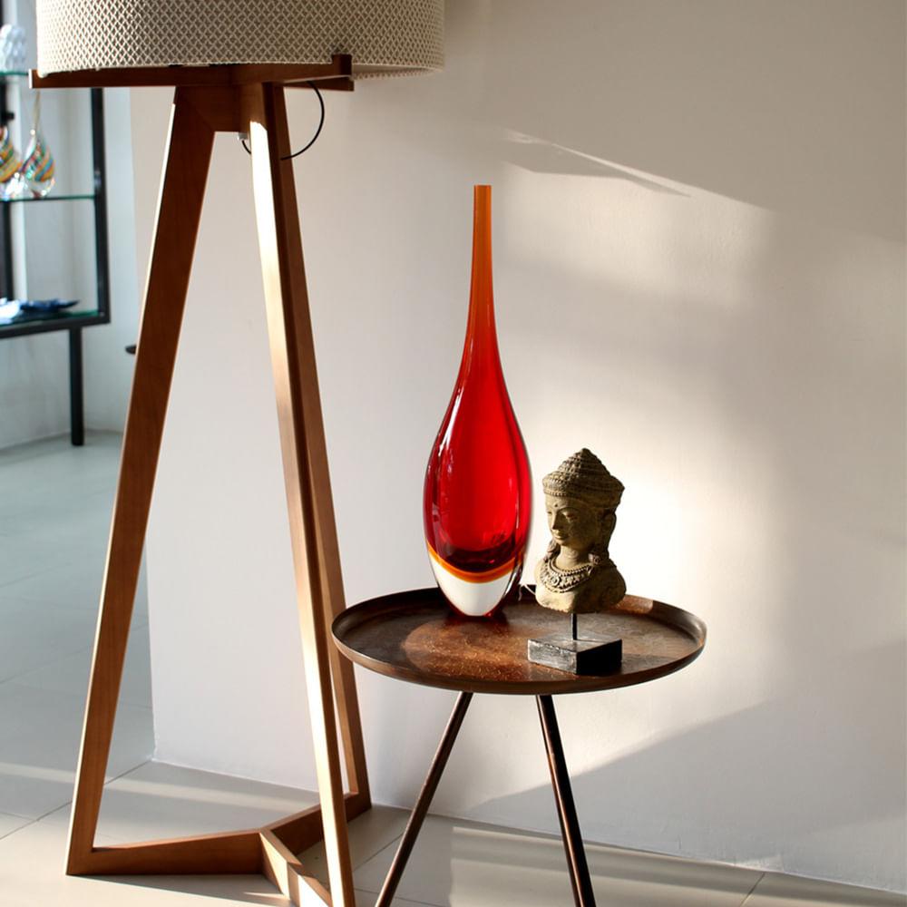 Gota Alta 170 MS Bicolor Vermelha com Âmbar Murano Cristais Cadoro