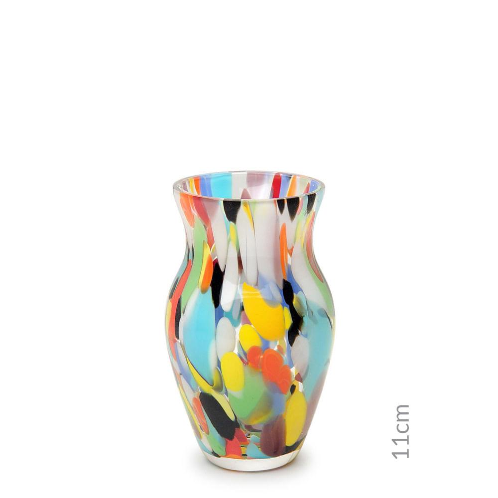 Vasinho M63 Multicor Colorido Murano Cristais Cadoro