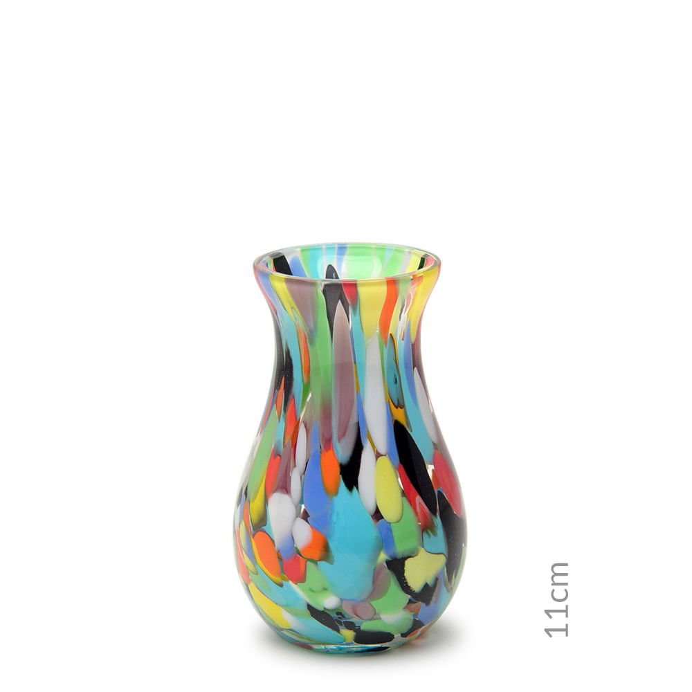 Vasinho M64 Multicor Colorido Murano Cristais Cadoro