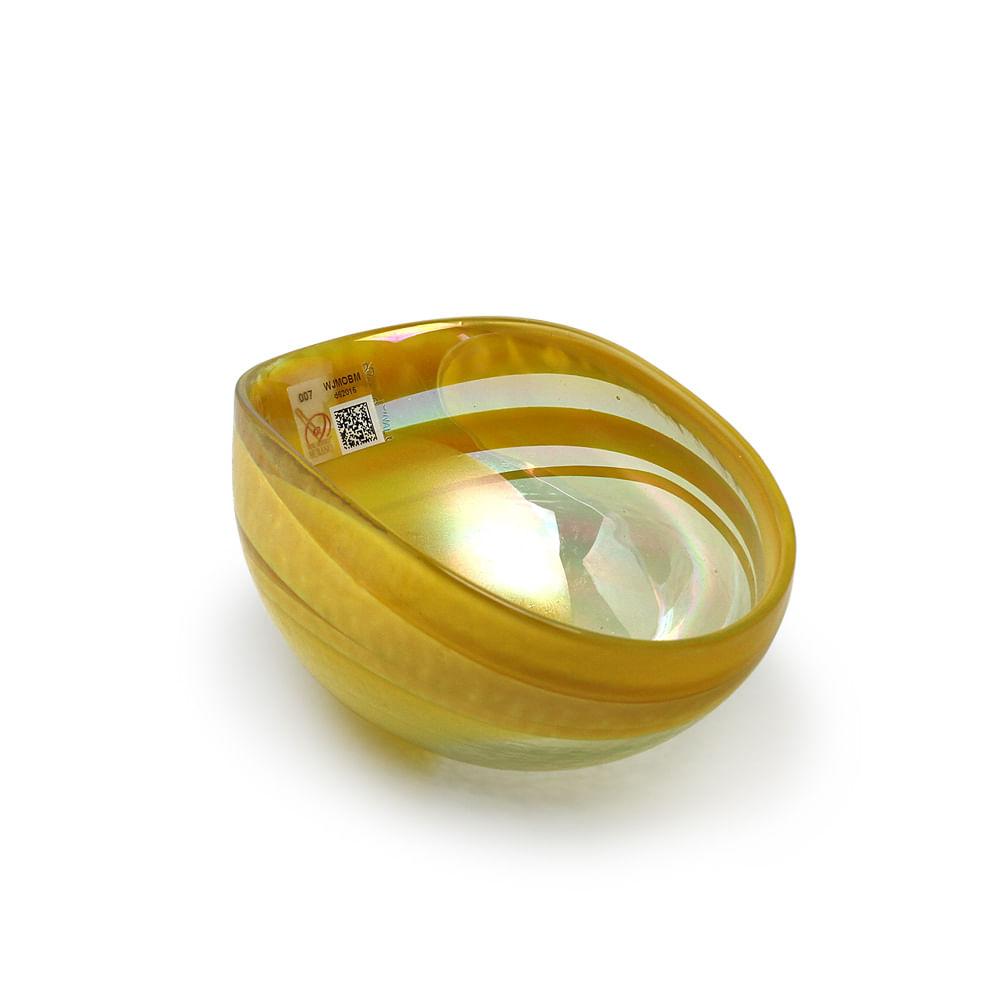 Bowl de Murano Amarelo Espiral Yalos