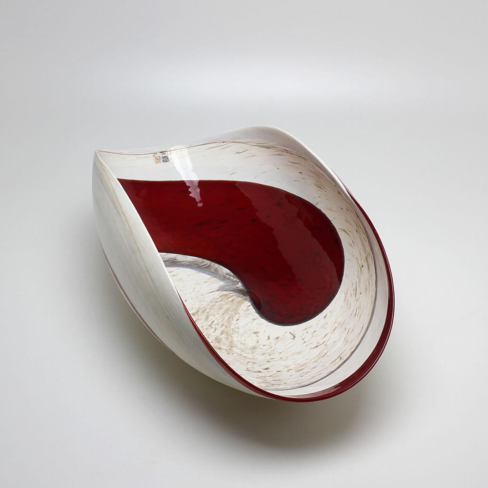 Centro de Mesa de Murano Vermelho Espiral Yalos