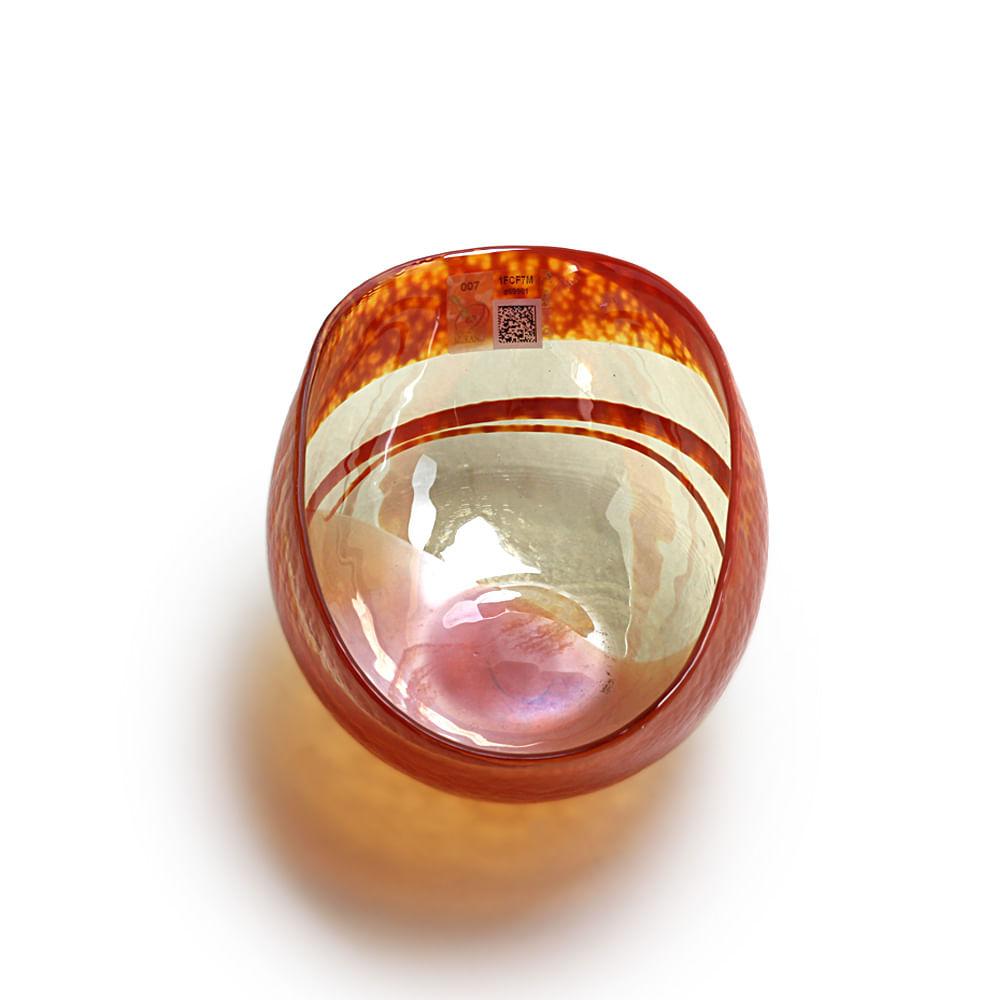 Bowl de Murano Laranja Espiral Yalos