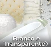 Branco e transparente